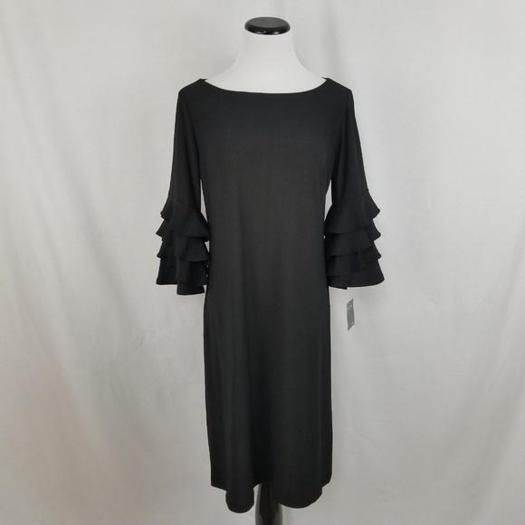 Gabby Skye Dresses & Skirts - NEW Gabby Skye Black Ruffle Sleeve Dress LBD
